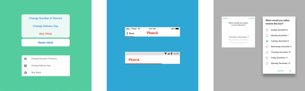 Plated iOS vs. Android UI Components
