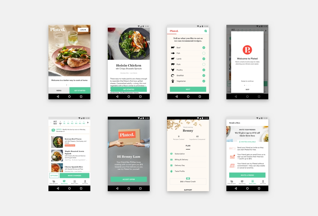 Plated Android Screens