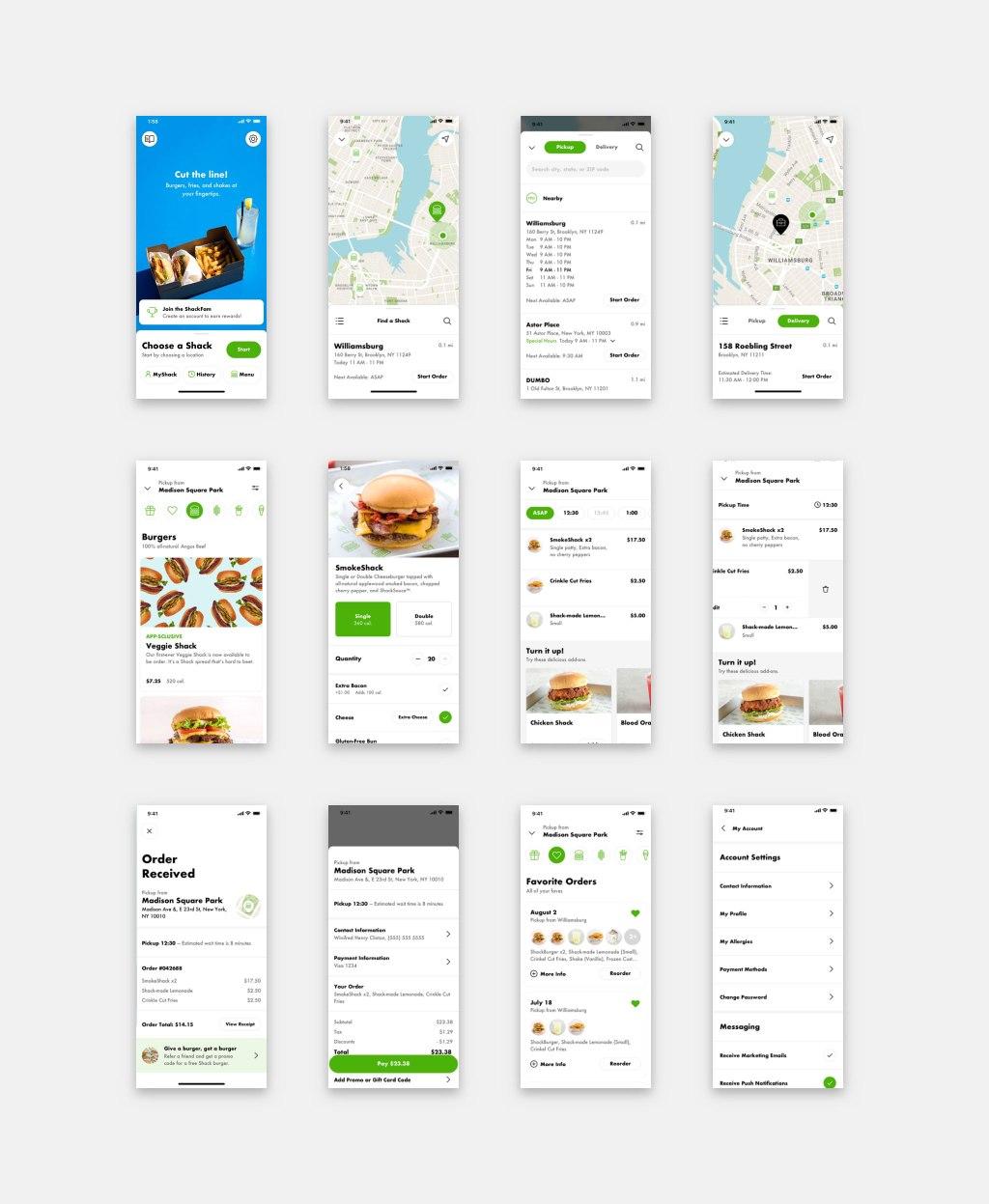 Shake Shack Mobile Ordering App Visual Design