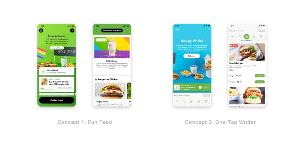 Shake Shack Mobile Visual Concepts